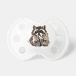 Arte del animal del humor de los besos del mapache chupete de bebe