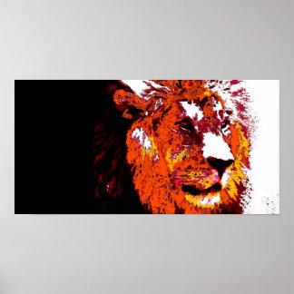 Arte del animal del león