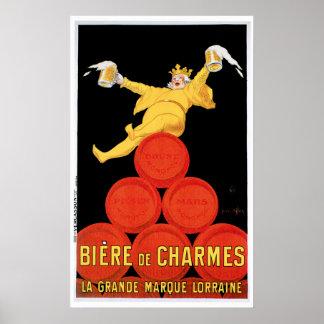 Arte del anuncio de la bebida de Biere De Charmes Impresiones