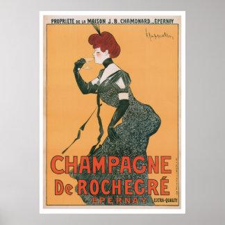 Arte del anuncio de la bebida de Champán De Rocheg Posters
