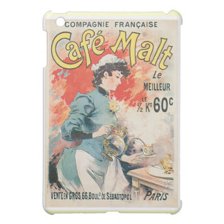Arte del anuncio de la bebida del café del vintage