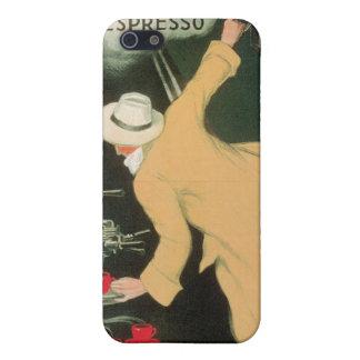 Arte del anuncio de la bebida del café del vintage iPhone 5 carcasas