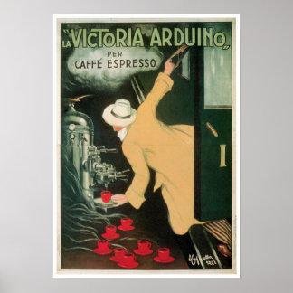 Arte del anuncio de la bebida del café del vintage póster