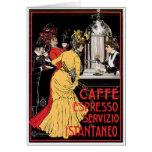 Arte del anuncio de la bebida del café del vintage tarjeta