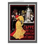 Arte del anuncio de la bebida del café del vintage felicitacion