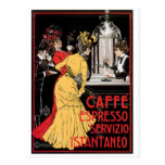 Arte del anuncio de la bebida del café del vintage postales