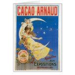Arte del anuncio de la bebida del chocolate del vi tarjetón