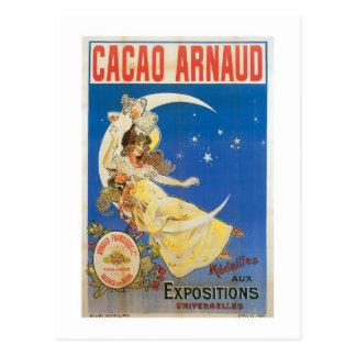 Arte del anuncio de la bebida del chocolate del vi postales