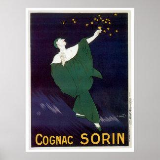 Arte del anuncio de la bebida del vino del vintage impresiones