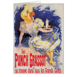 Arte del anuncio de la bebida del vino del vintage tarjeta