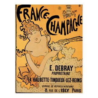 Arte del anuncio de la bebida del vino del vintage tarjetas postales