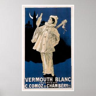 Arte del anuncio de la bebida del vintage de Blanc Póster
