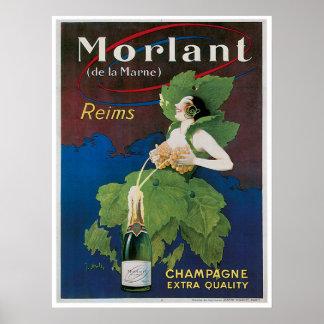 Arte del anuncio de la bebida del vintage de Morla Póster