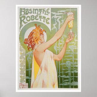 Arte del anuncio de la bebida del vintage de Robet Póster
