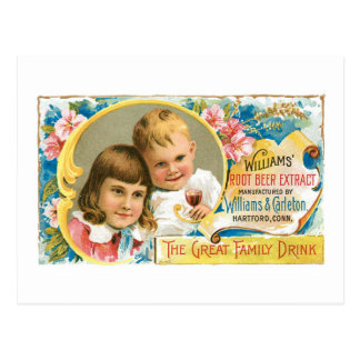 Arte del anuncio de la bebida del vintage del extr tarjetas postales