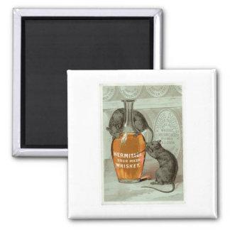 Arte del anuncio de la bebida del vintage del puré imanes de nevera