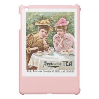 Arte del anuncio de la bebida del vintage del té d