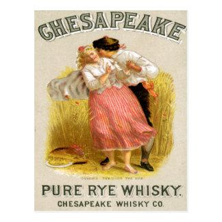 Arte del anuncio de la bebida del vintage del whis tarjetas postales