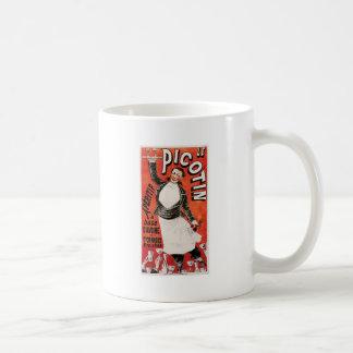 Arte del anuncio de la comida de Le Picotin Vintag Tazas De Café