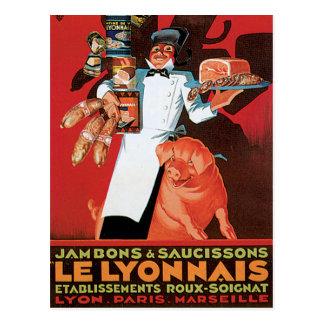 Arte del anuncio de la comida de Pork Ham Le Postales