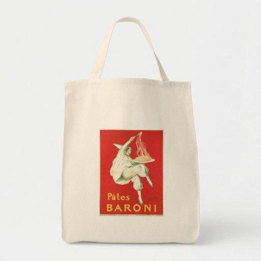 Arte del anuncio de la comida del vintage de Baron Bolsa Lienzo