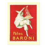 Arte del anuncio de la comida del vintage de Baron Postal