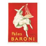 Arte del anuncio de la comida del vintage de Baron Tarjeta Postal