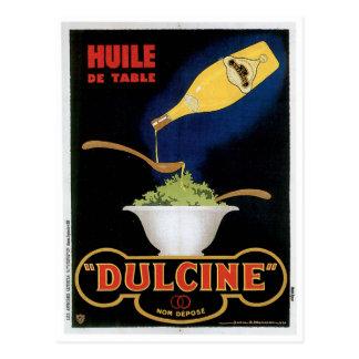 Arte del anuncio de la comida del vintage de Huile Postales