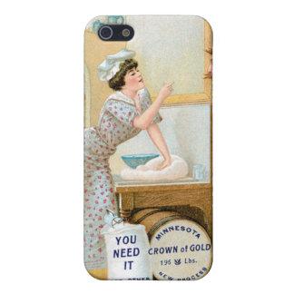 Arte del anuncio de la comida del vintage de la pa iPhone 5 funda