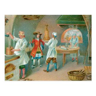 Arte del anuncio de la comida del vintage de la pa tarjetas postales