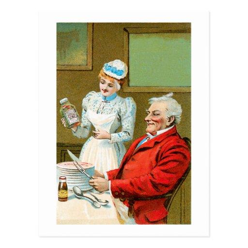 Arte del anuncio de la comida del vintage de las s tarjetas postales
