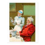 Arte del anuncio de la comida del vintage de las s postal