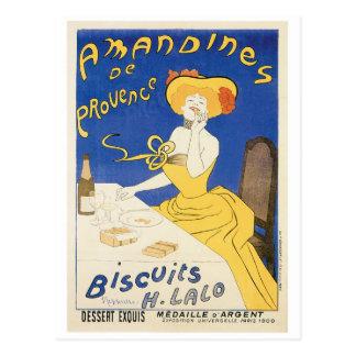 Arte del anuncio de la comida del vintage de tarjetas postales