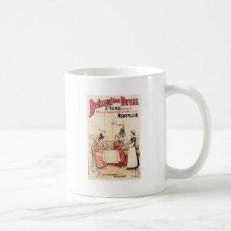 Arte del anuncio de la comida del vintage del cald taza