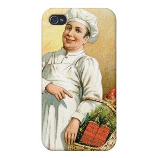 Arte del anuncio de la comida del vintage del coci iPhone 4/4S carcasa