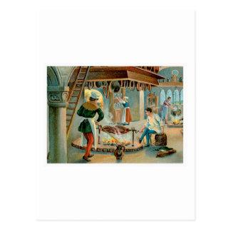 Arte del anuncio de la comida del vintage del coci tarjeta postal