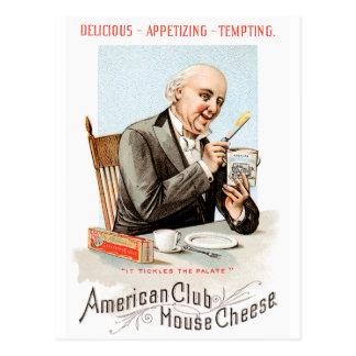 Arte del anuncio de la comida del vintage del postal