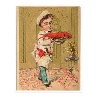 Arte del anuncio de la comida del vintage del tarjetas postales