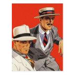 Arte del anuncio de la moda del vintage de los tarjeta postal