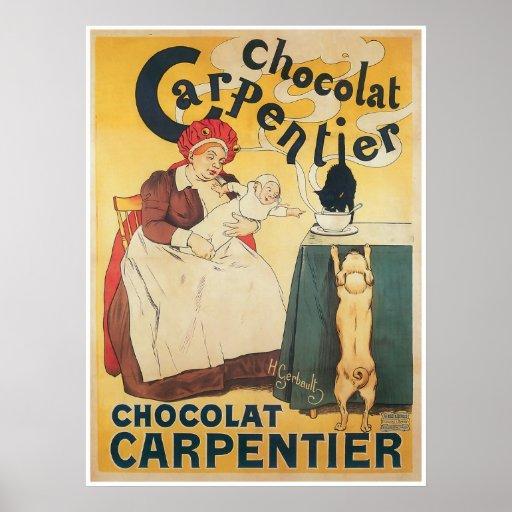 Arte del anuncio del chocolate caliente del póster