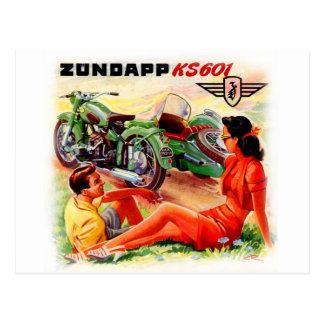 Arte del anuncio del coche lateral de la tarjetas postales
