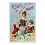 Arte del anuncio del libro de cocina del vintage d posters