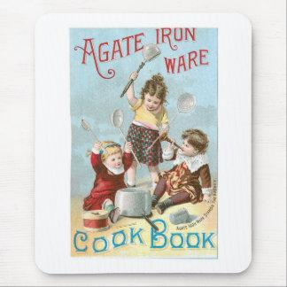 Arte del anuncio del libro de cocina del vintage alfombrilla de ratón