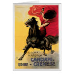 Arte del anuncio del vino del vintage de Canciani  Felicitación