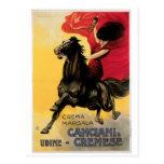 Arte del anuncio del vino del vintage de Canciani Postal