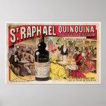 Arte del anuncio del vino del vintage de Raphael Q Poster