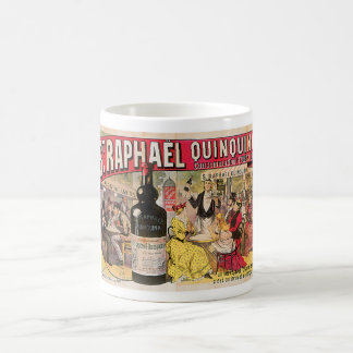 Arte del anuncio del vino del vintage de Raphael Q Tazas De Café
