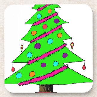Arte del árbol de navidad posavasos