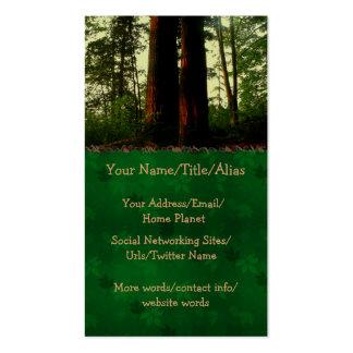Arte del árbol plantilla de tarjeta de negocio