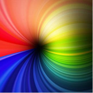 Arte del arco iris de la diversión imán fotoescultura